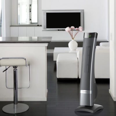 Lasko Tower Heater Model CT30710C in a modern living room