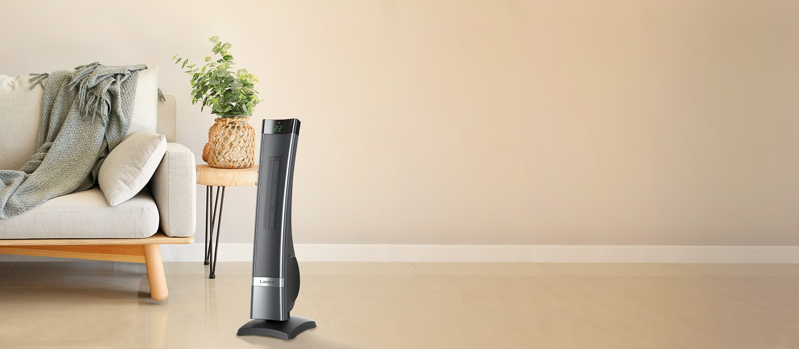 Lasko Tower Heater CT30710C in living room