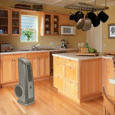 The Oscillating High Velocity Blower Fan, Model 4924 in a kitchen.
