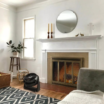 Lasko Air Flexor Fan Helps Spread Fireplace Heat