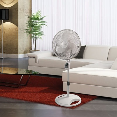 how much energy does a fan, lasko 16″ Remote Control Stand Fan model 1646 living room