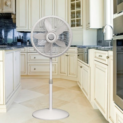 Lasko 18″ Elegance & Performance Pedestal Fan model 1820 in kitchen