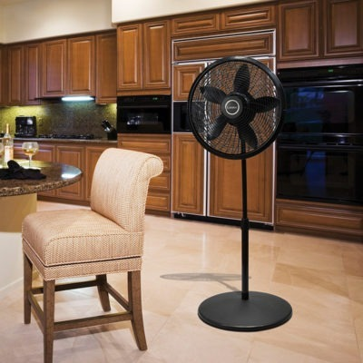Lasko 18″ Adjustable Cyclone® Pedestal Fan model 1823 in kitchen