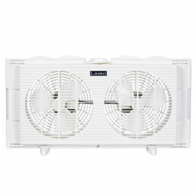 Front of Lasko Twin Window Fan model 2137