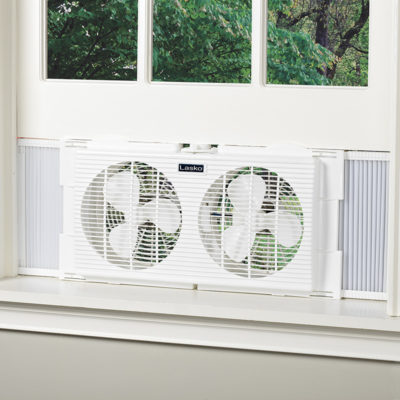 Lasko Twin Window Fan model 2137 in window