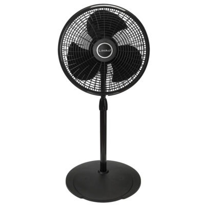 short height of Lasko 16″ Performance Pedestal Fan model 2527