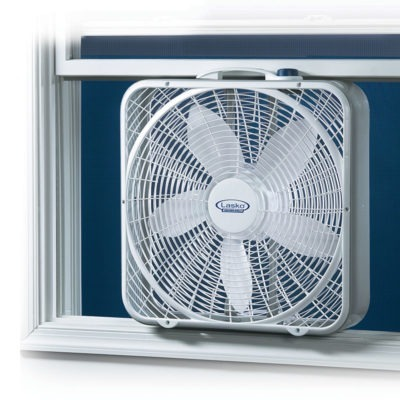 Lasko 20″ Weather-Shield® Performance Box Fan model 3720 in window