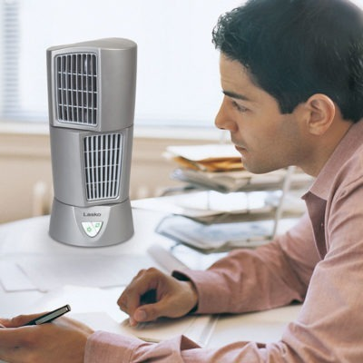 Lasko PLATINUM Desktop Wind Tower® model 4910 on office table