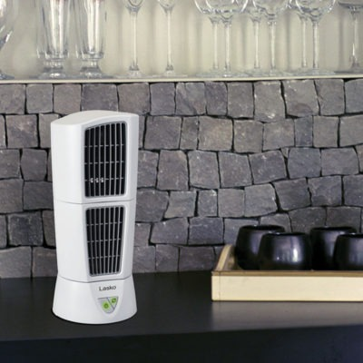 lasko PLATINUM Desktop Wind Tower® model 4917 on counter