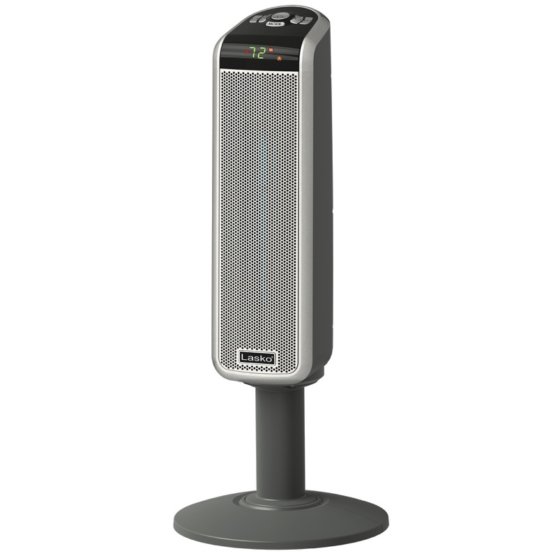 30″ Tall Digital Ceramic Pedestal Heater with Remote Control