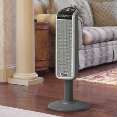 Lasko 30″ Digital Space-Saving Ceramic Pedestal Heater with Digital Remote Model 5397 in Living room
