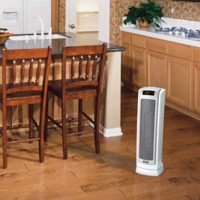 Lasko Remote Control Ceramic Tower Heater with Digital Display Model 5511 in Kitchen