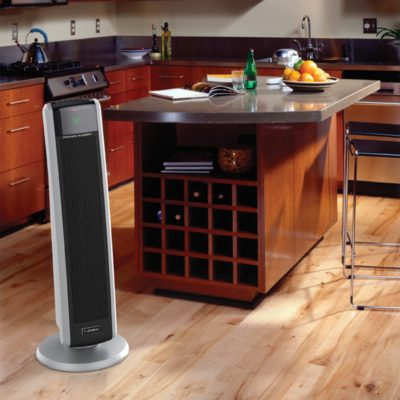 Lasko Digital Ceramic Tower Heater with Electronic Remote Control Model 5586 in the kitchen