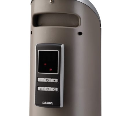 Remote storage of Lasko Electronic 34″ Ceramic Tower Heater with Logic Center Remote Control Model 5588