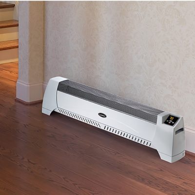 Lasko, Silent Room Heater – White, Model 5622, in the hallway