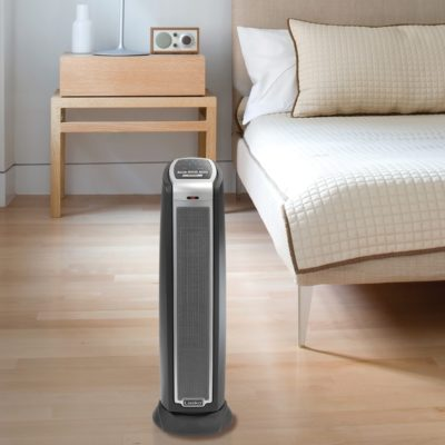 Lasko, Ceramic Tower Heater with Remote Control, Model 5790, In the bedroom