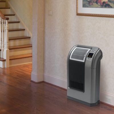 Lasko Cyclonic Digital Ceramic Heater with Remote Control Model 5840 In the hallway