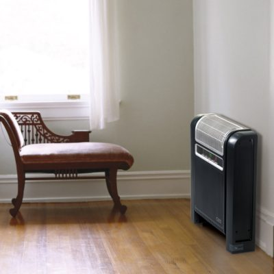Lasko Cyclonic Ceramic Heater Model 6050 against wall