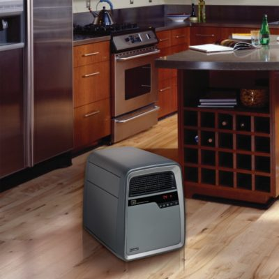 Lasko, Cool-Touch Infrared Quartz Heater, Model 6101, in kitchen