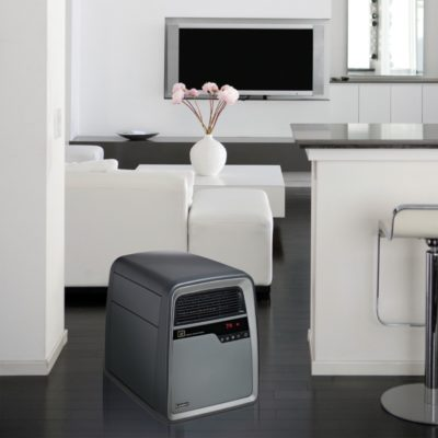 Lasko, Cool-Touch Infrared Quartz Heater, Model 6101, in living room