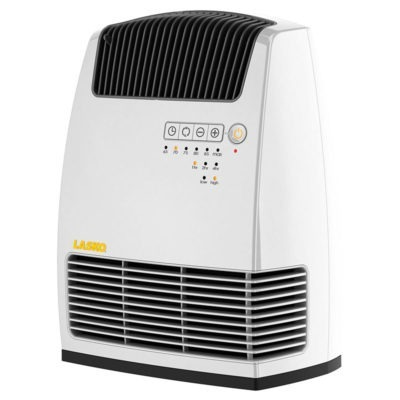 Front view of Lasko Electronic Fan-Forced Heater with Warm Air Motion Technology - White model 6250