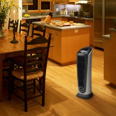 Lasko Tower Heater Model 751320 in kitchen