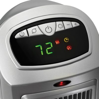 Lasko, Remote Control Ceramic Heater with Digital Display, Model 755320, control panel