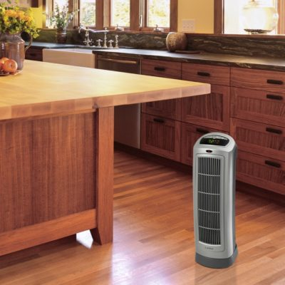 Lasko, Remote Control Ceramic Heater with Digital Display, Model 755320, in kitchen