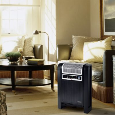 Lasko Cyclonic Ceramic Heater with Remote Control Model 760000 in family room
