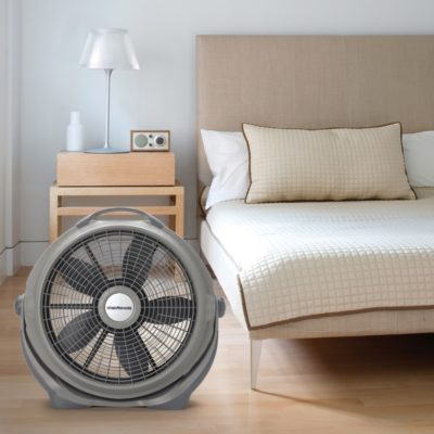 Lasko, 20″ Wind Machine® Gray Air Circulator Fan, Model A20303, in living room