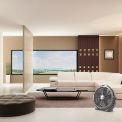Lasko, 20″ Wind Machine® Gray Air Circulator Fan, Model A20303, modern living room
