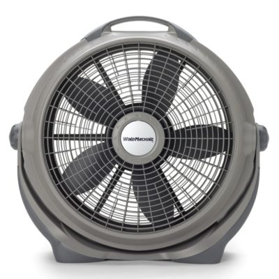 Lasko, 20″ Wind Machine® Gray Air Circulator Fan, Model A20303, straight