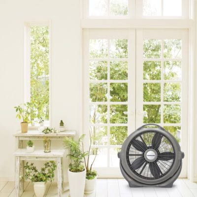 Lasko, 20″ Wind Machine® Gray Air Circulator Fan, Model A20303, sunroom