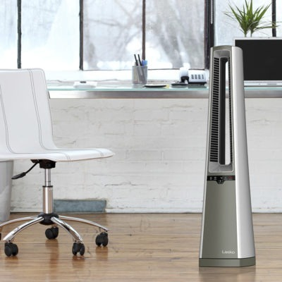 Lasko Bladeless Tower Fan Model AC600 in home office