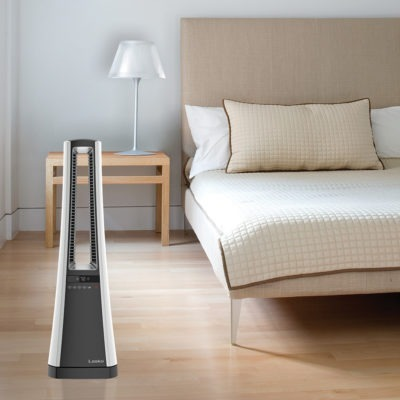 Lasko Bladeless Heater with Remote Control Model AW300 in bedroom
