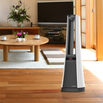 Lasko Bladeless Ceramic Heater with Remote Control Model AW315 in living room