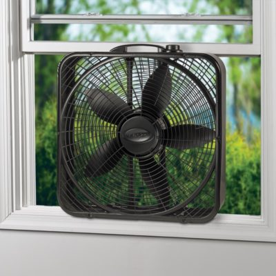 Lasko, 20″ Power Plus Box Fan, Model B20801, in window
