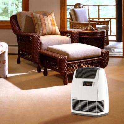 Lasko, Digital Ceramic Heater with Warm Air Motion Technology, Model CC13650, in bedroom
