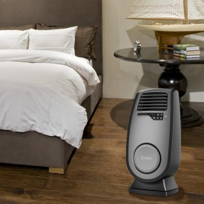Lasko, Ultra Ceramic Heater with 3D Motion Heat and Remote Control, Model CC23152, in bedroom