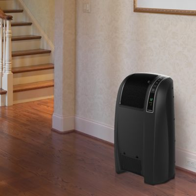 Lasko Cyclonic Digital Ceramic Heater with Remote Control Model CC24843 in hallway