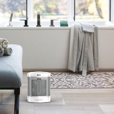 Lasko heater in bathroom