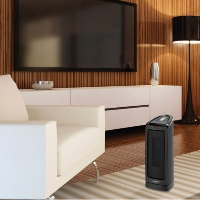 Lasko Electronic Ceramic Heater with Remote Control Model CT16550 in living room