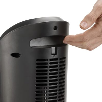 Lasko, Ceramic Tower Heater with Remote, Model CT22415, handle