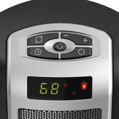 Lasko, Digital Ceramic Tower Heater with Remote Control, Model CT22722, controls