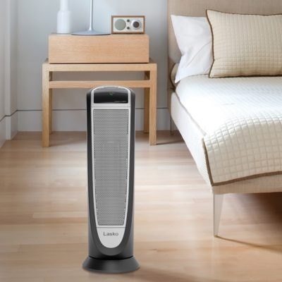 Lasko, Digital Ceramic Tower Heater with Remote Control, Model CT22766, bedroom view