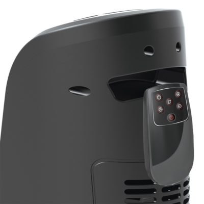 Handle with remote view of Lasko Digital Ceramic Tower Heater with Remote Control Model CT22766