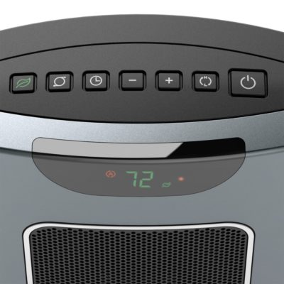 controls for Lasko Ultra Ceramic Tower Heater with Remote Control and Save Smart® Technology