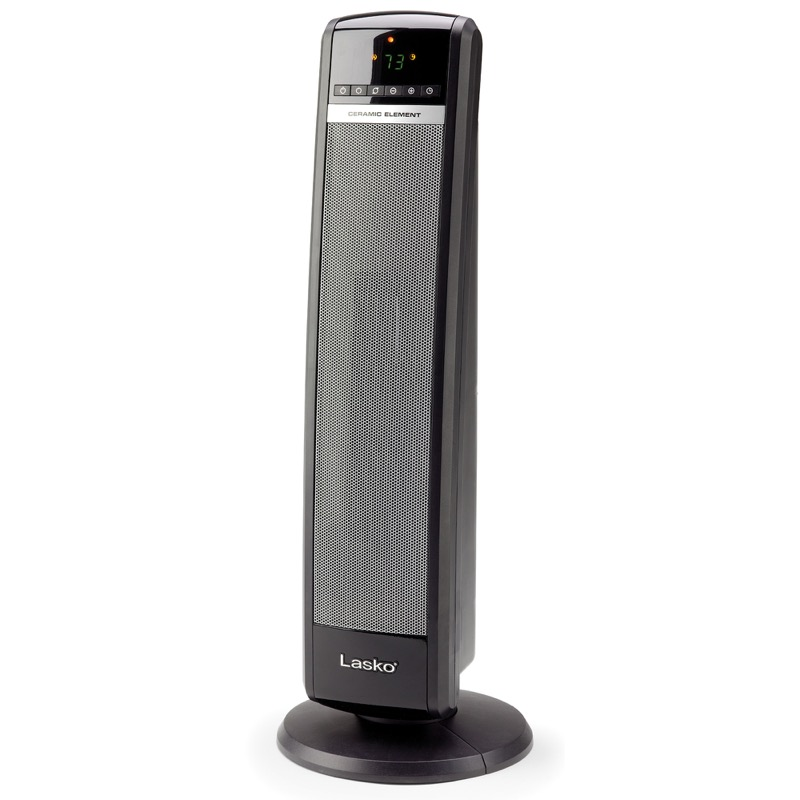 "Front view of Lasko 30"" Tall Tower Heater with Remote Control model CT30750"