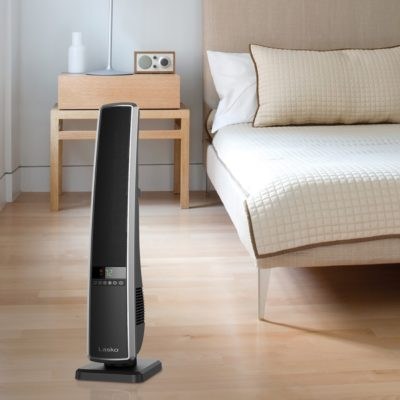 Digital Ceramic Tower Heater with Remote Control Model CT32950 in modern bedroom