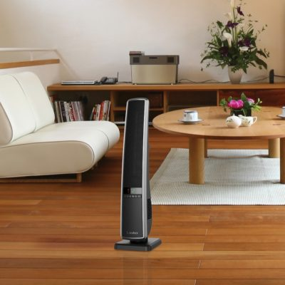 Digital Ceramic Tower Heater with Remote Control Model CT32950 in modern living room